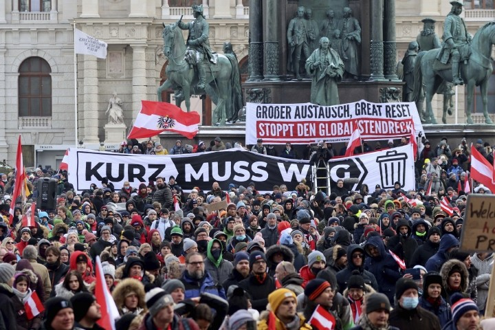 Citizens Move Against Virus Restrictions in Austria, Switzerland - The New American