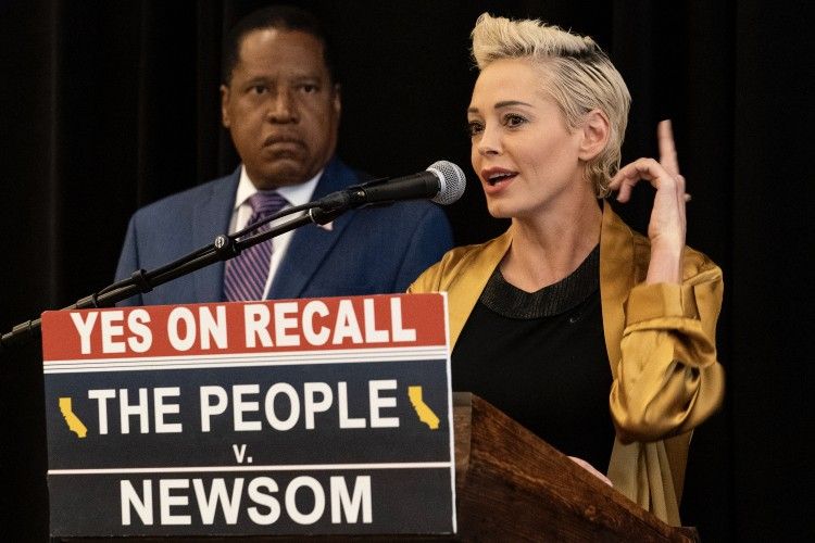 Larry Elder and Rose McGowan Drop BOMBSHELL on Newsom, Media, Hollywood Elite, and Democrat Party