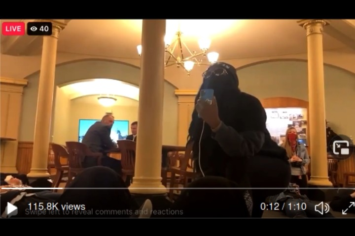 BLM Activists Storm Iowa Capitol Building, Mainstream Media Silent