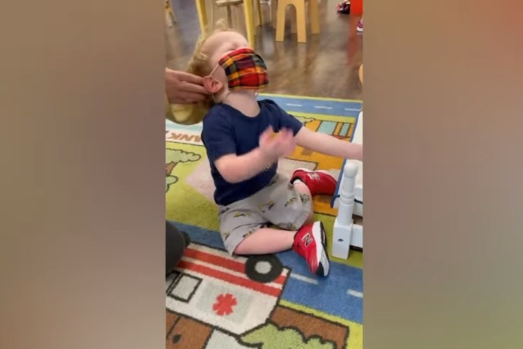 Viral Video of Toddler Being Forced to Wear Mask Sparks Outrage Over NY Mask Mandate