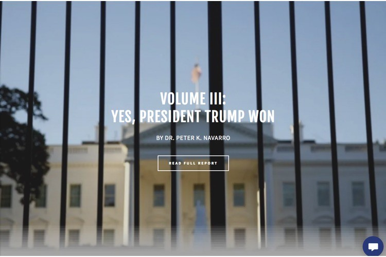 "Volume Three of Navarro Report: ""Yes, President Trump Won: The Case, Evidence & Statistical Receipts"" - The New American"
