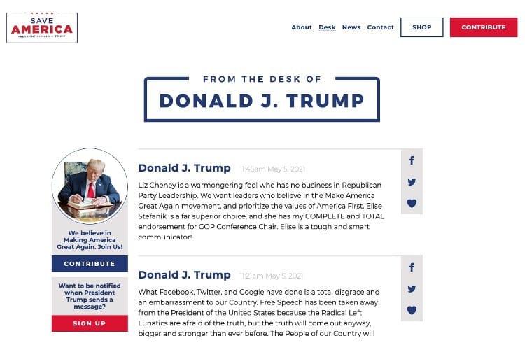 President Trump Launches New Communications Platform